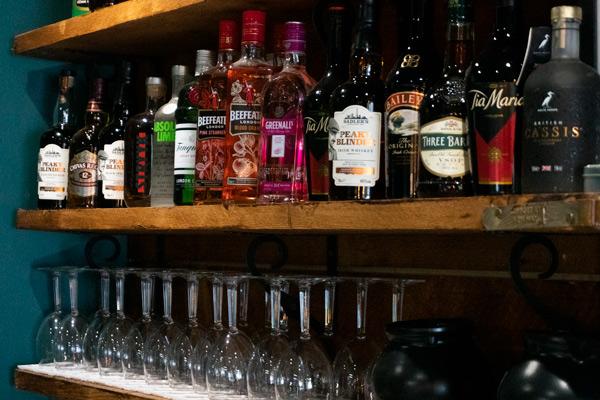 Jazz Cafe Drinks Shelf