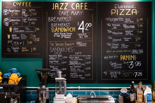Jazz Cafe Menus Image 1